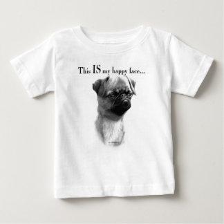 Visage heureux de griffon de Bruxelles T-shirt Pour Bébé