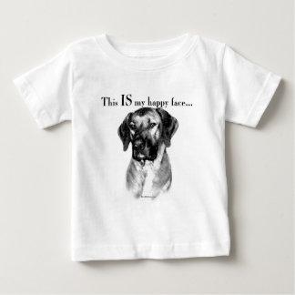 Visage heureux de Rhodesian Ridgeback T-shirt Pour Bébé