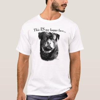 Visage heureux de rottweiler t-shirt