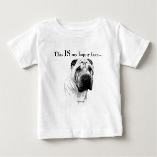 Visage heureux de Shar Pei de Chinois T-shirt Pour Bébé
