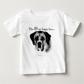 Visage heureux de St Bernard T-shirt Pour Bébé