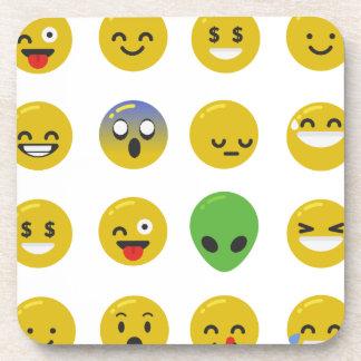 Visage heureux d'Emoji Sous-bock