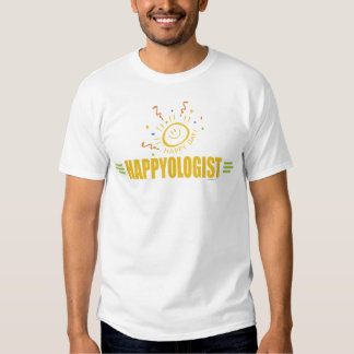 Visage heureux humoristique de sourire t-shirt