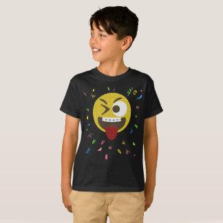 Visage idiot avec la fête d'anniversaire d'Emoji T-shirt