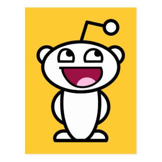 Visage impressionnant de Reddit Carte Postale
