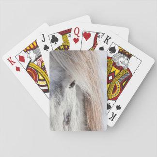 Visage islandais blanc de cheval, Islande Cartes À Jouer