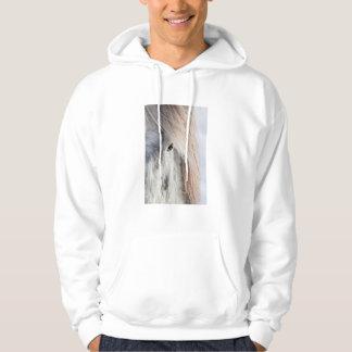 Visage islandais blanc de cheval, Islande Veste À Capuche