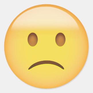 Smiley triste autocollants stickers smiley triste - Sourcil visage rond ...