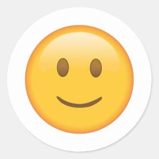 Visage légèrement de sourire - Emoji Sticker Rond