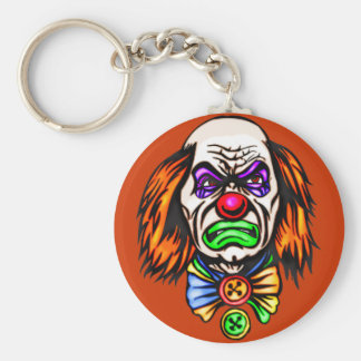 Visage mauvais de clown porte-clefs
