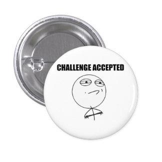 Visage Meme comique de rage admis par défi Badge