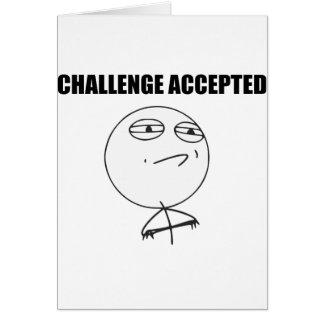 Visage Meme comique de rage admis par défi Carte De Vœux