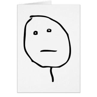 Visage Meme de rage de visage de tisonnier Cartes De Vœux
