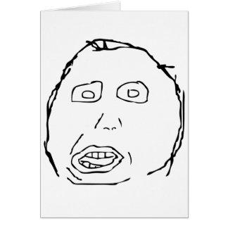 Visage Meme de rage d'idiot de Herp Derp Carte De Vœux