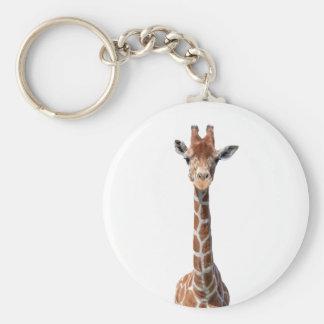 Visage mignon de girafe porte-clés
