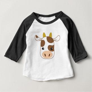 visage mignon de vache t-shirt pour bébé