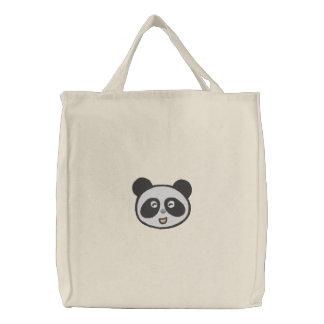 visage mignon fourre-tout de panda sacs en toile