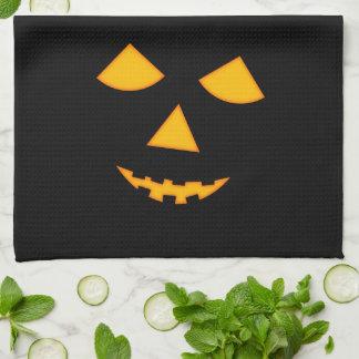 Visage mignon Halloween de citrouille de Linges De Cuisine