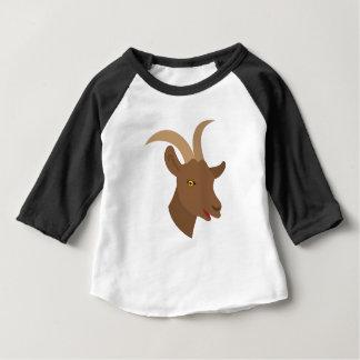 visage mignon masculin de chèvre t-shirt pour bébé