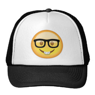 Visage nerd Emoji Casquettes De Camionneur