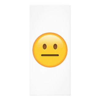 Visage neutre - Emoji Carte Publicitaire