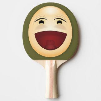 Visage riant - palette de ping-pong raquette tennis de table