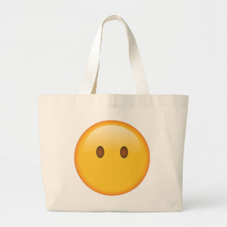 Visage sans bouche - Emoji Grand Sac