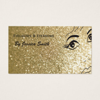 Visage scintillant de fille d'or élégant fascinant cartes de visite