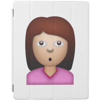 Visage se demandant de femme - Emoji Protection iPad