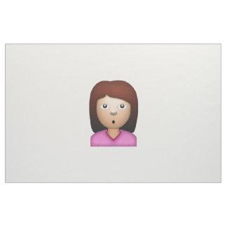 Visage se demandant de femme - Emoji Tissu