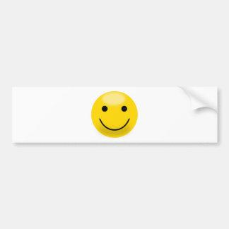 Visage souriant de bonheur autocollant pour voiture