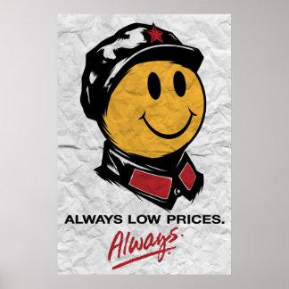Visage souriant de Mao de Président - Chine : Touj Posters