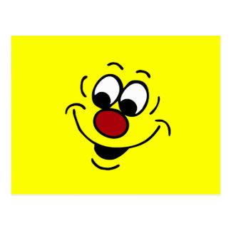 Visage souriant distrait Grumpey Carte Postale
