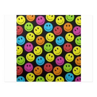 Visage souriant doux carte postale