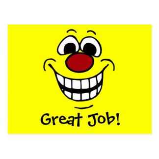 Visage souriant gai Grumpey Carte Postale