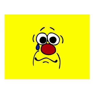 Visage souriant Grumpey de sympathie Cartes Postales