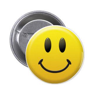Visage souriant heureux badges