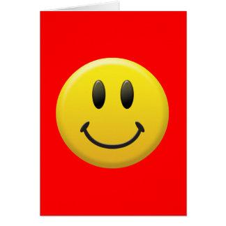 Visage souriant heureux carte de vœux