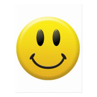 Visage souriant heureux carte postale