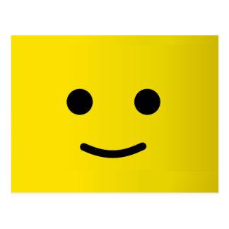 Visage souriant heureux jaune carte postale