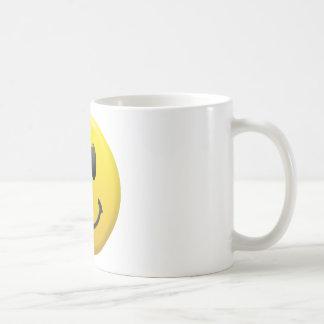 Visage souriant heureux mug blanc