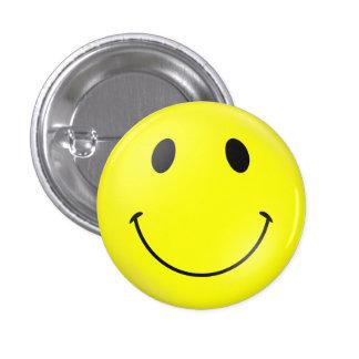 Visage souriant jaune badge avec épingle