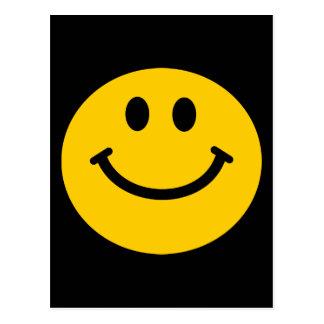 Visage souriant jaune cartes postales