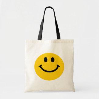 Visage souriant jaune sacs