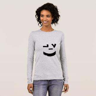 Visage souriant mignon t-shirt à manches longues