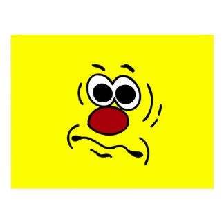 Visage souriant muet Grumpey Carte Postale
