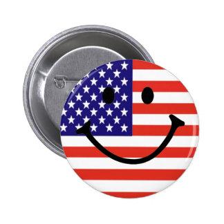Visage souriant patriotique pin's