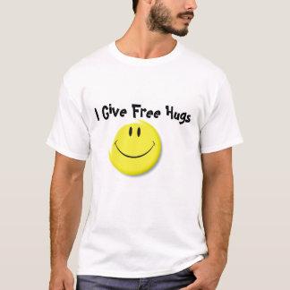 Visage souriant (plat), je donne les étreintes t-shirt