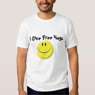 Visage souriant (plat), je donne les étreintes t-shirts