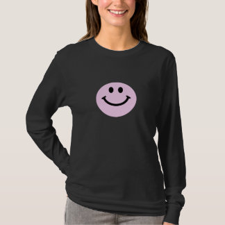 Visage souriant rose t-shirt
